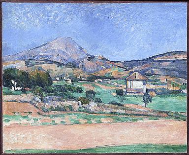 Paul Cézanne La Montagne Sainte Victoire vue du chemin de Valcros