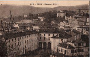 carte postale de la caserne Filley de Nice